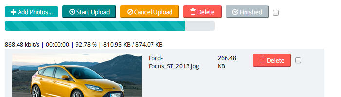 Vehicle Photo Upload Script