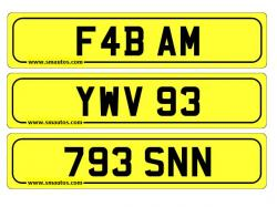 Not applicable Other Number plates