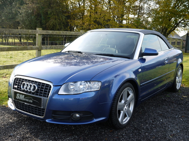 Denim blue metallic Audi A4 Cabriolet