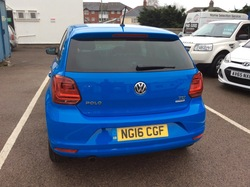 Blue Volkswagen Polo