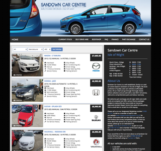 Dealer Website Preivew - Sandown Car Centre